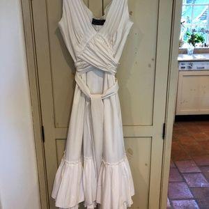 Andrew Galan crisp white sleeveless sun dress sz 8